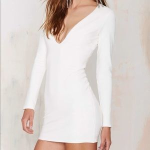 NWT w/ Flaw Nasty Gal Plunging Bodycon Mini Dress